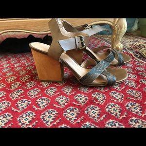 Madewell slingback sandal leather heel mule JCrew